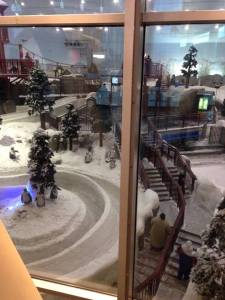 Indoor ski slope - Mall of the Emirates